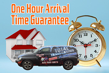 1 hr arrival guarantee
